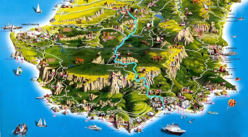 Карта ЮБК