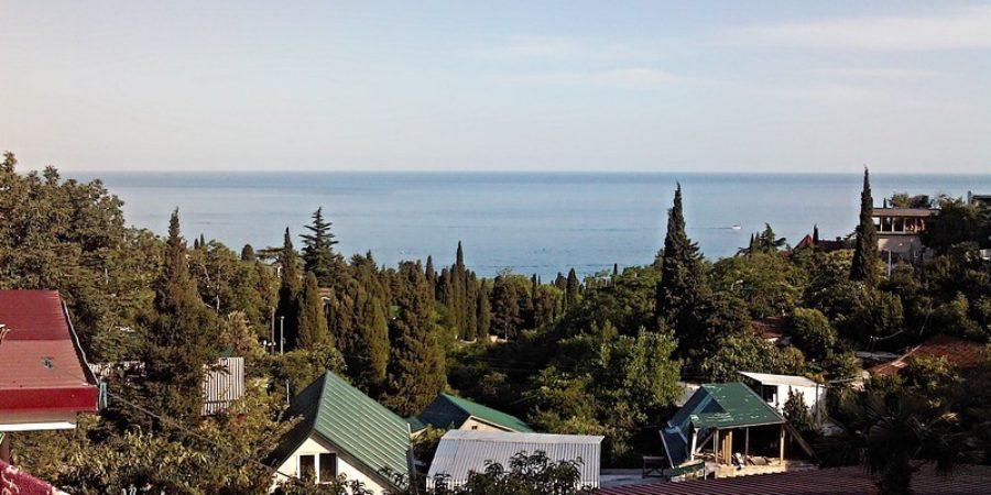 Вид на море Гурзуфа