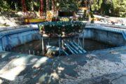 Не работающий фонтан